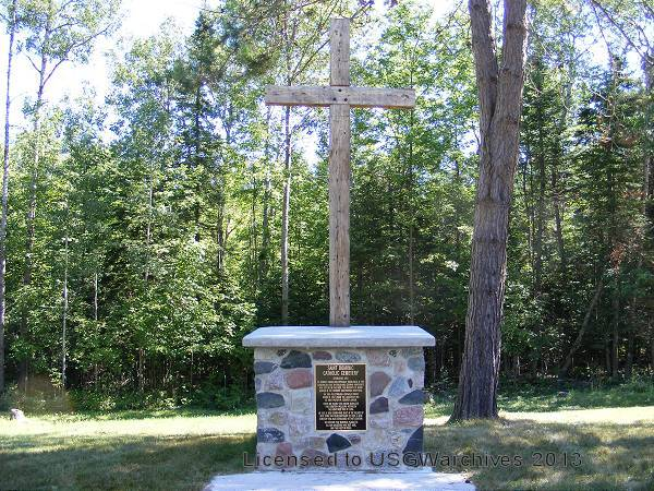 Old Saint Dominic's Cemetery Cross and Memorial Plaque