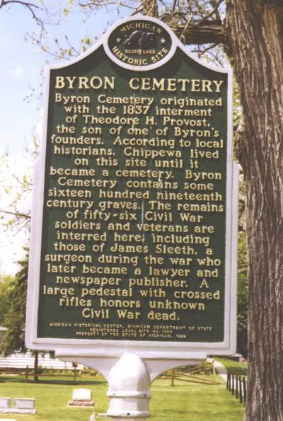 Byron Cemetery Sign