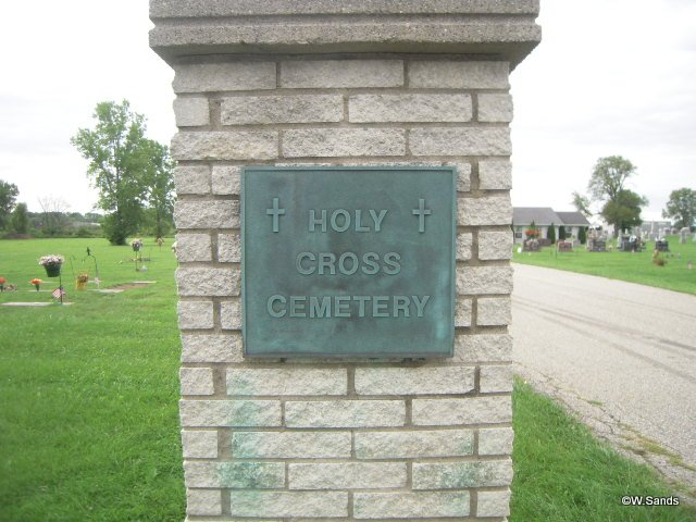 Holy Cross Cemetery sign