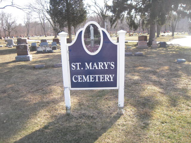 St. Mary's Cemetery Sign