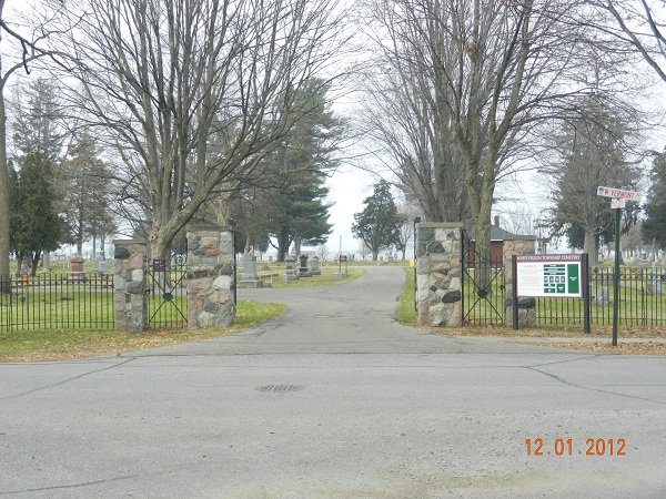 White Pigeon Township Cemetery entrance