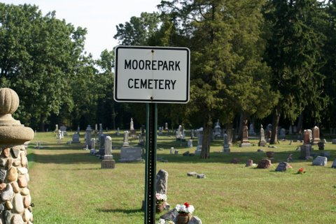 Moore Park Cemetery Sign