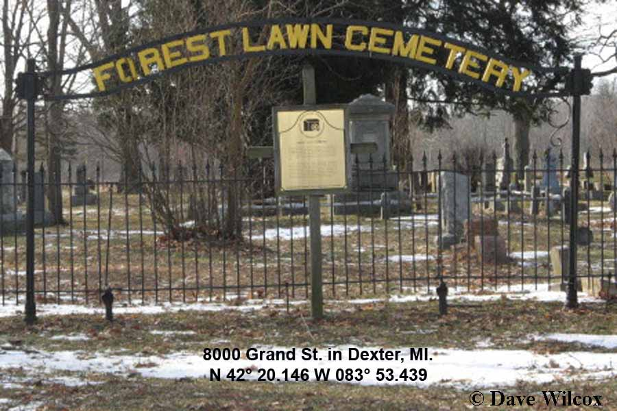 Forest Lawn Cemetery sign
