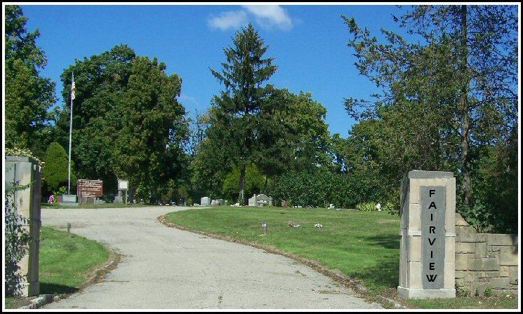 Fairview Cemetery Entrance