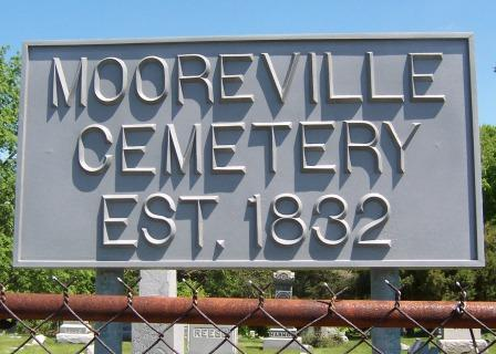 Mooreville Cemetery sign