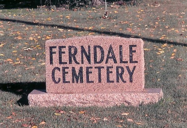 Ferndale Cemetery Sign