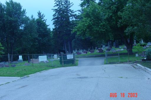 Northview Cemetery Entrance