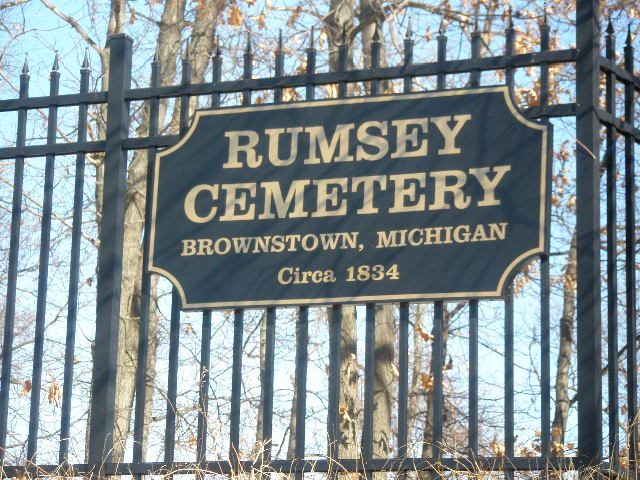 Rumsey Cemetery Sign
