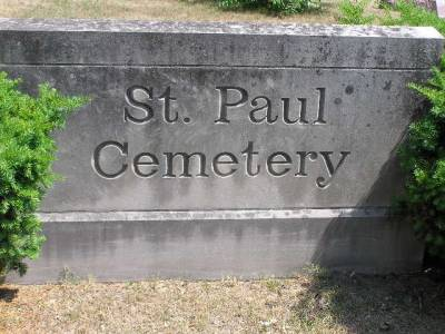 St. Paul Cemetery Sign