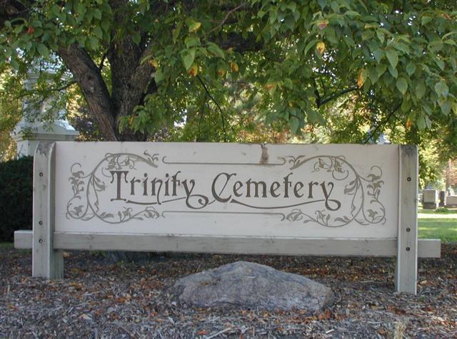Trinity Lutheran Cemetery Sign