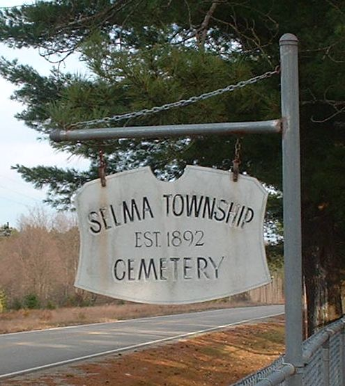 Selma Township Cemetery Sign
