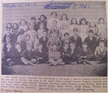 Ray County Missouri Genealogy Resources Camden Schools 1912