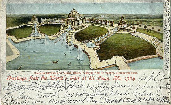 saint louis 1904 festival hall essay