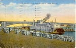 The Levee At St. Louis 1871 Fantastic A4 Glossy Nautical