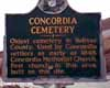 New Cemetery Sign, Concordia Cemetery