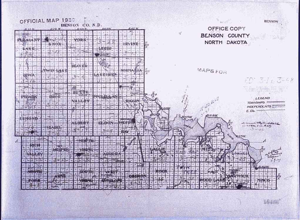 North Dakota County Map