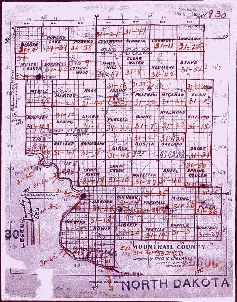 North Dakota County Map - Nd land ownership map
