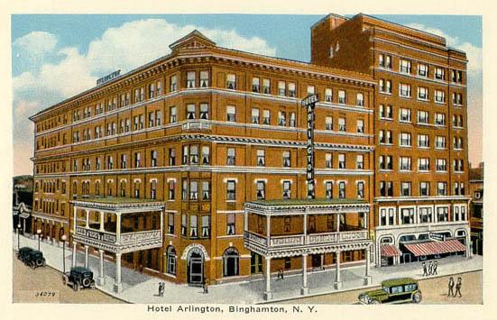 Hotel Arlington Binghamton 1933