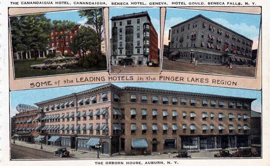 Some Leading Hotels Of The Finger Lakes Region Canandaigua Hotel Seneca Geneva Gould Falls And Osborn House