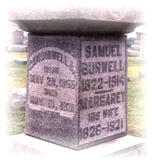 Samuel BURWELL 1822-1914 and his wife, Margaret BURWELL 1826-1921 and son, Samuel BURWELL 28 May 1855-18 May 1891