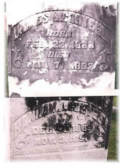 James Coryell 22 Feb 1830-7 Jan 1892 & Hannah Coryell 26 Dec 1839-3 Nov 1898