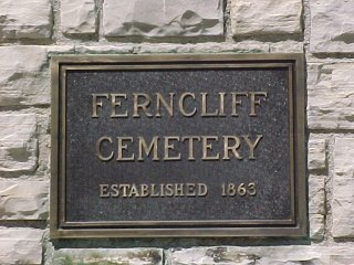 Ferncliff Cemetery Sign