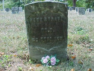 John Peter Frank (On G.A.R. Mound) Row 5, Grave 23 abt. 1834-1906