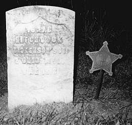 Isaac Hitchcock 5 June 1790-17 Jan 1877.  Served in Capt. Dickerson's Co. in the War of 1812, h/o Mary Haverfield (buried in Hanna Cemetery, Crawford County, Ohio)