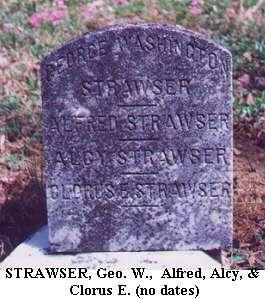 Geo. W., Alfred, Alcy & Clorus E. Strawser