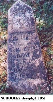 Joseph Schooley d. 1851