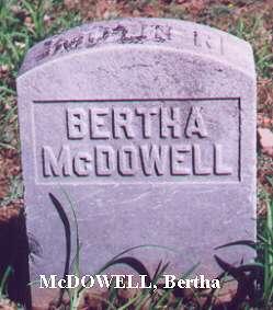 Bertha McDowell