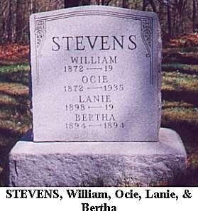 William, Ocie, Lanie & Bertha Stevens