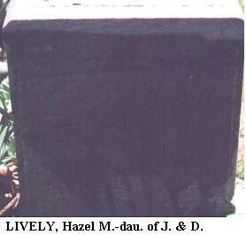 Hazel M. Lively, d/o J. & D.