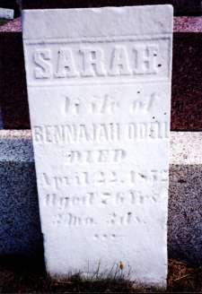 Sarah Wells O'Dell w/o Benejah