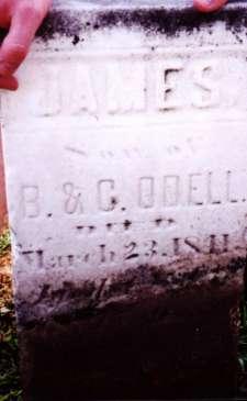 James d. 22 Mar 1811 s/o Benejah & Caroline O'Dell