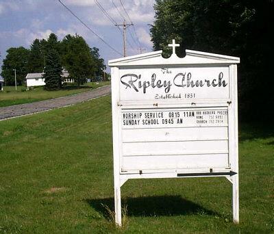 Ripley Church Sign