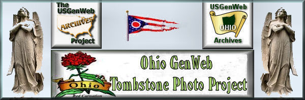 Ohio Tombstone Photo Project logo, two angels