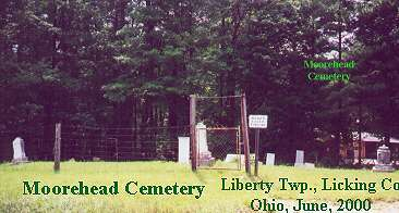 Moorhead Cemetery, Liberty Township, Licking County, Ohio