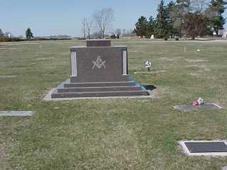 Masonic Marker Section beside Frank grave.