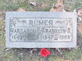 Margaret Everhart Rumer 1849-1925 & Franklin David Rumer 1847-1908