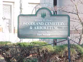 Woodland Cemetery Sign