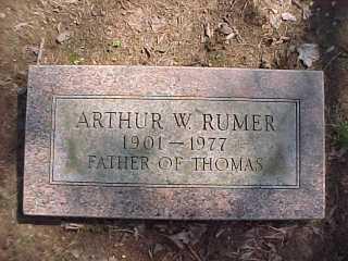 Arthur Rumer 1901-1977, w/o Ollie