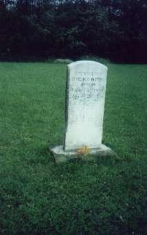 Erastus Bickford d. 6 Jun 1880 Ae 21y