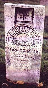William Hill d. 4 Mar 1850.  H/o Jane Hitchcock Hill (buried in Henry Co., IL)