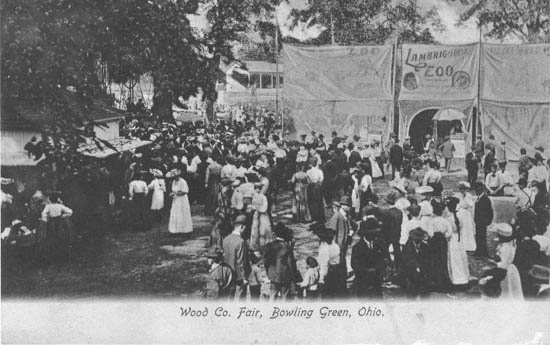 penny postcards from wood county ohio