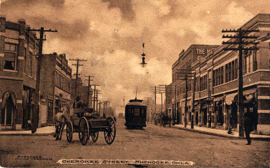 Penny Postcards from Muskogee County Oklahoma