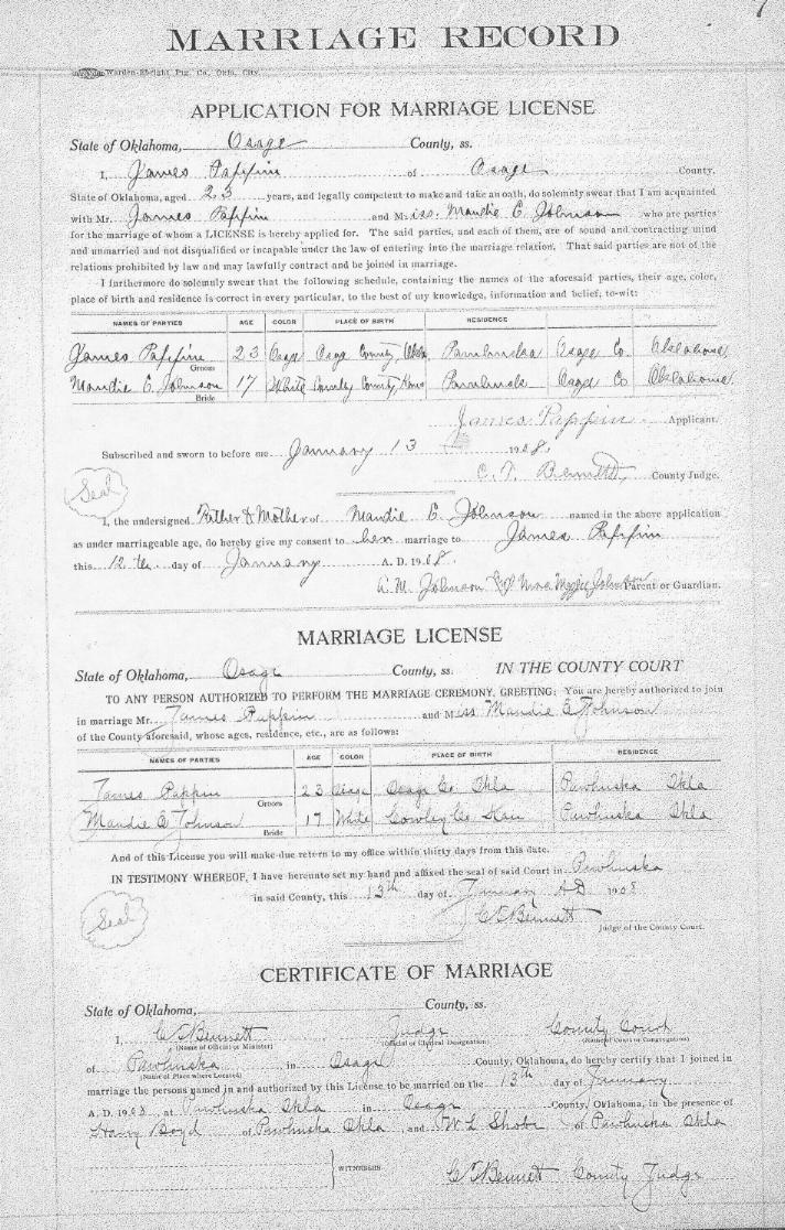 Untitled document example of 1908 marriage record aiddatafo Gallery