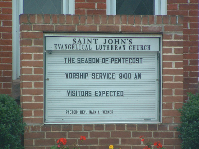 St. John's Evangelical Lutheran Church, Abbottstown, PA