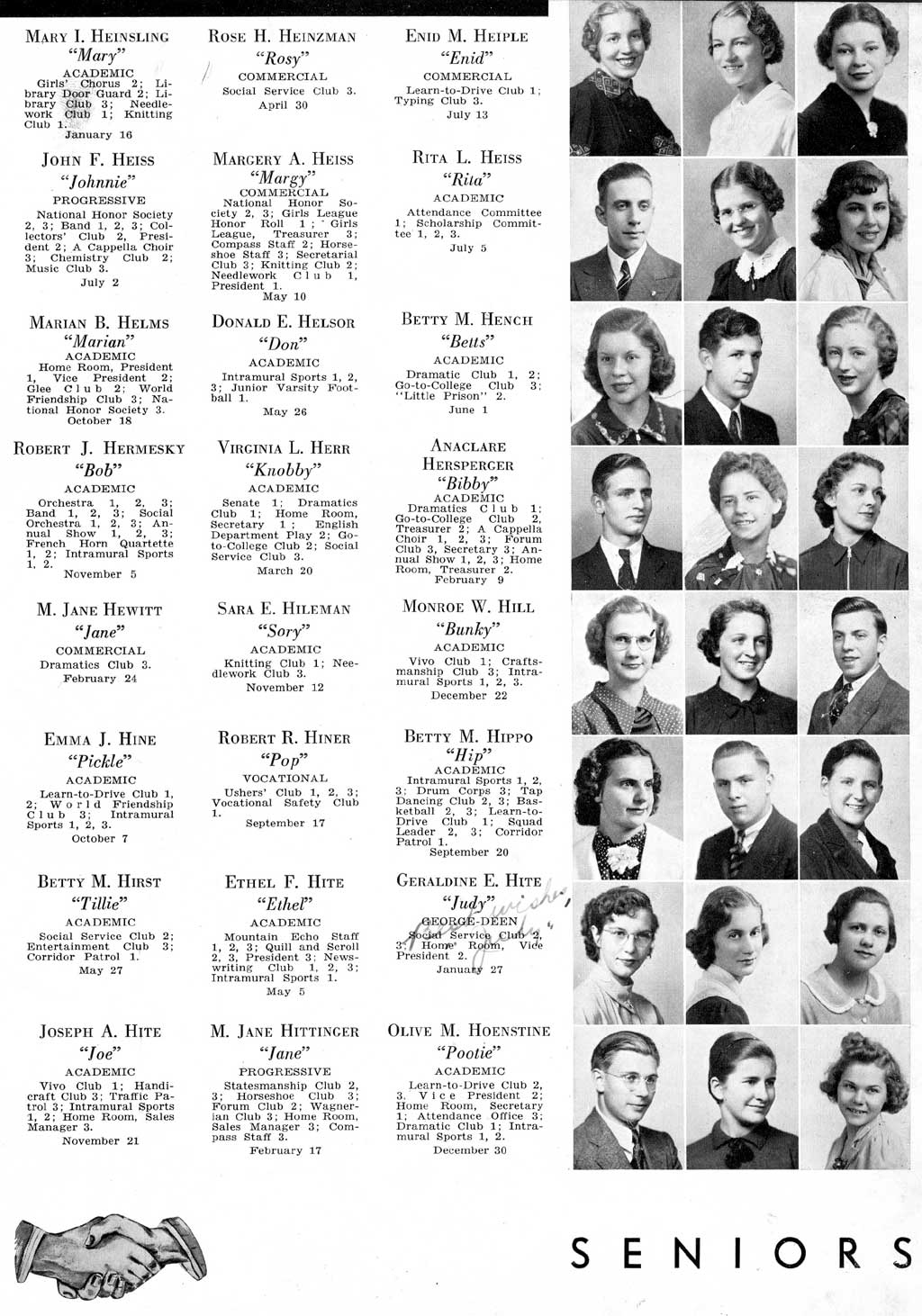 Altoona High School 1938 Horseshoe, Blair County PA USGenWeb Archives