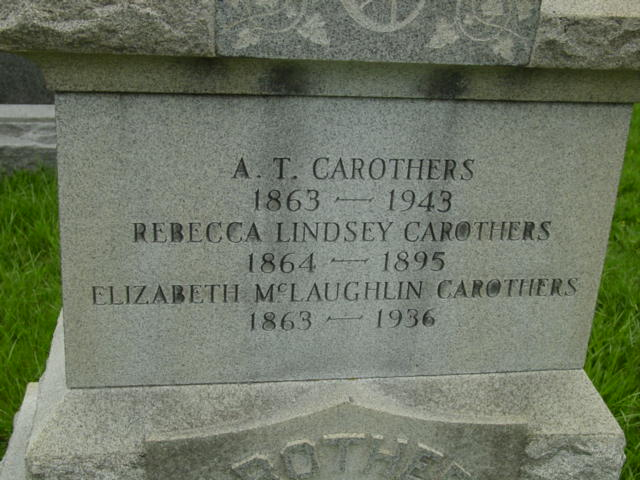 rebecca lindsey  1864 1895